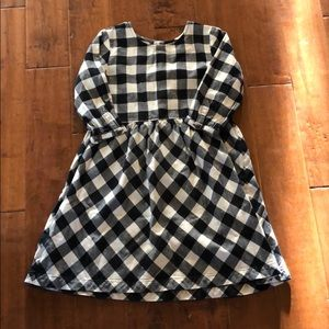 Hanna Anderson cotton/flannel plaid dress.